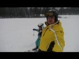ставим  Леху на лыжи