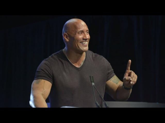 ДУЭЙН ДЖОНСОН. Эмоциональная речь на сцене Олимпии-2016! (GoB channel)