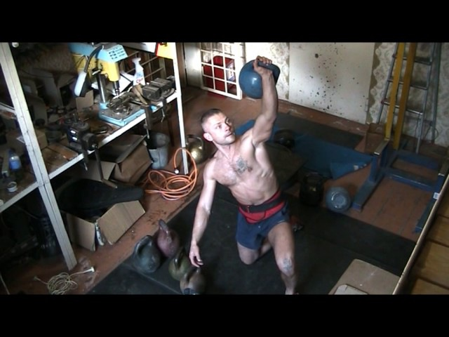 ПОДЪЕМ ГИРЯ ПЕРЕД ТОБОЙ.32kg.36kg.40kg.dead muscle snatch on the knee.