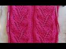 Ажурная дорожка Веточка Вязание спицами Видеоуроки 170