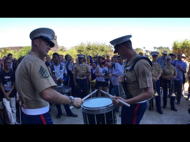 SFBandChallenge15: Benicia Drumline VS 1st Marine Division
