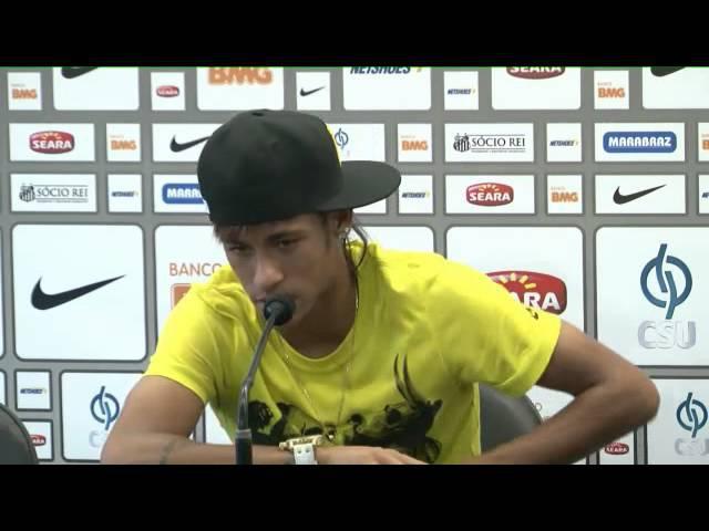 Coletiva de Imprensa - Neymar (06/07/12)