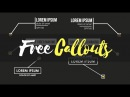 13 FREE CALLOUTS and How to Customise with Motion Tracking - Motion 5 FCPX Templates