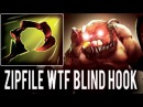 ZipFile Pudge Most Epic Hook Combo vs Invisible Nyx Assassin WTF Blind Hook Gameplay 7.06 Dota 2
