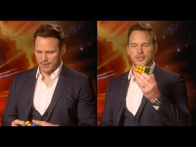 Chris Pratt Completes A Rubiks Cube In 3 Minutes...While Doing An Interview