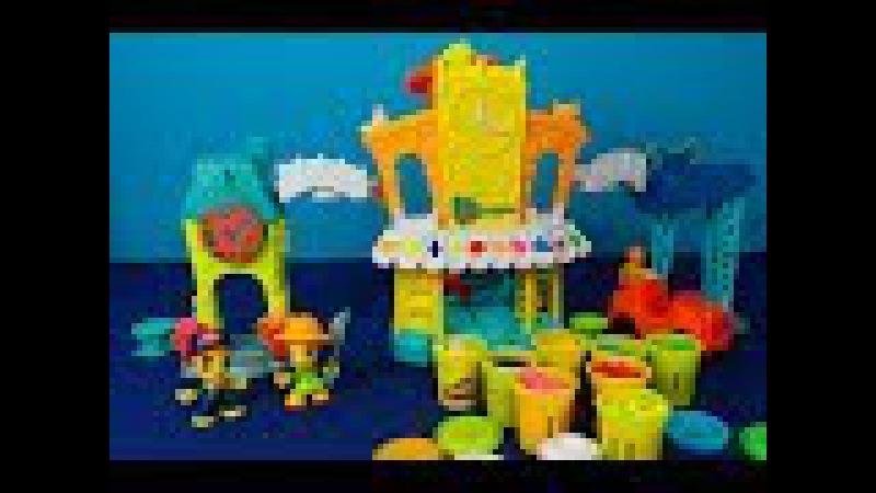 Play Doh Town. Déballage d'un énorme ensemble de jeu Play Doh Town. Place du marché 3-en-1 Play Doh