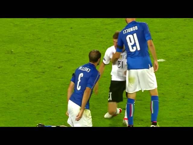 Thomas Müller blames Giorgio Chiellini Don't be such a pussy Germany vs. Italia Euro 2016