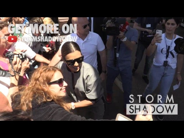 Eva Longoria greets the fans at hotel Martinez in Cannes