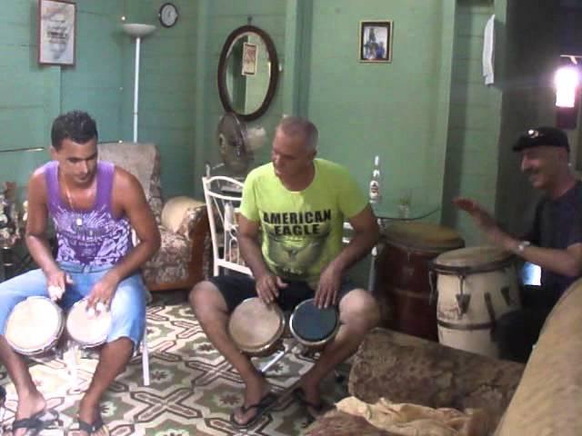 La Rumba with Edwado lavoy sr and lavoy jr on Bongos. David Negro Bradish-Congas