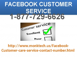 100% Customer Satisfaction On 1-877-729-6626Facebook Customer Service Number