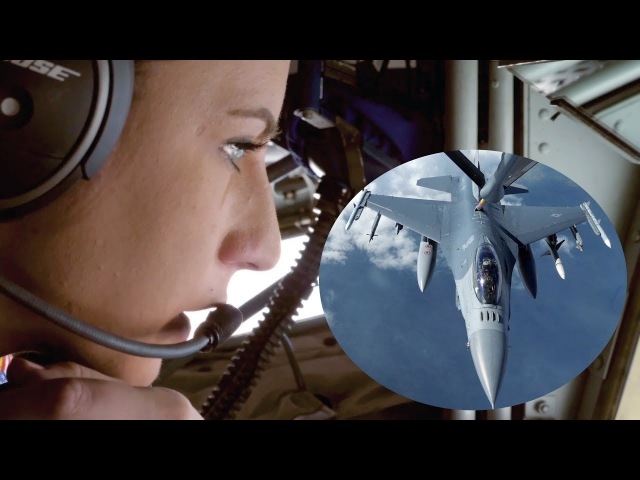 AWESOME HD FOOTAGE! KC-135 Stratotanker Refueling Fighters