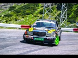 Mercedes 190E 3.2 and 3.0 TD Drift Practice - Donuts - Burnout - Powerslide - Loud Exhaust