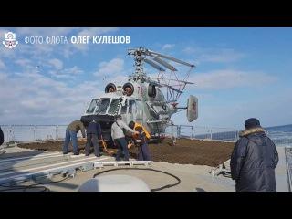 Российский фрегат Адмирал Горшков на испытаниях в Белом море