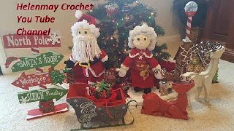 Crochet Mr and Mrs Santa Claus Heirloom Doll Part 2 of 4 DIY video tutorial