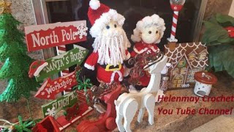 Crochet Mr and Mrs Santa Claus Heirloom Dolls Part 1 of 4 DIY video tutorial