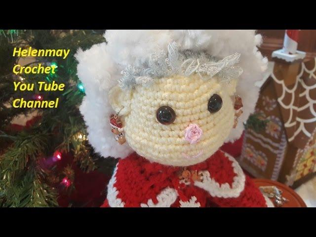 Crochet Mr and Mrs Santa Claus Heirloom Dolls Part 3 of 4 DIY video tutorial