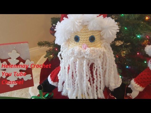 Crochet Mr and Mrs Santa Claus Heirloom Dolls Part 4 of 4 DIY video tutorial