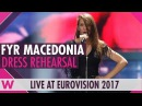 "FYR Macedonia Jana Burčeska Dance Alone"" semi final 2 dress rehearsal @ Eurovision 2017"