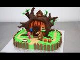 MASHA and the Bear Chocolate Cake - Decorating with Modeling Chocolate by CakesStepbyStep