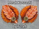 3) DIY - Tutorial | Cara Membuat Bros Merak Kanzashi | Peacock Kanzashi Brooch