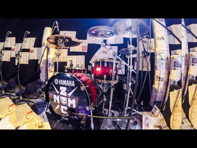 Noize MC Чайлдфри Live на Дожде (DrumCam)