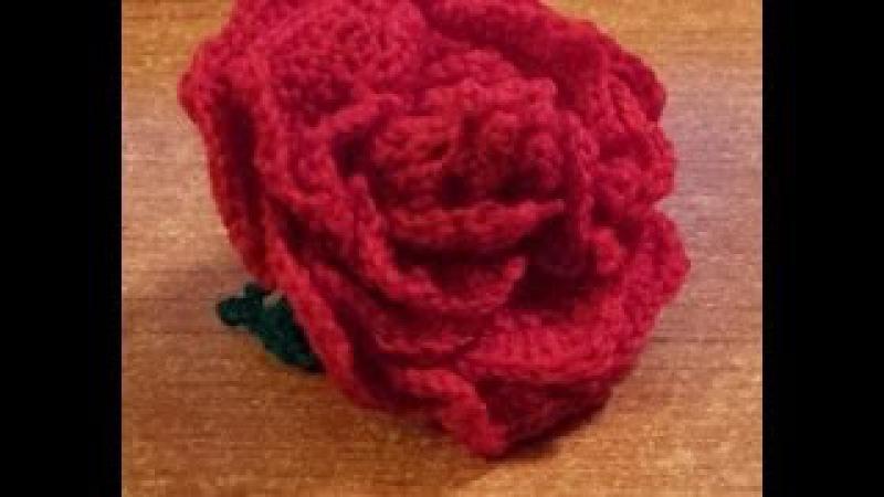 Rosa alluncinetto a 18 petali separati - tutorial fiori uncinetto
