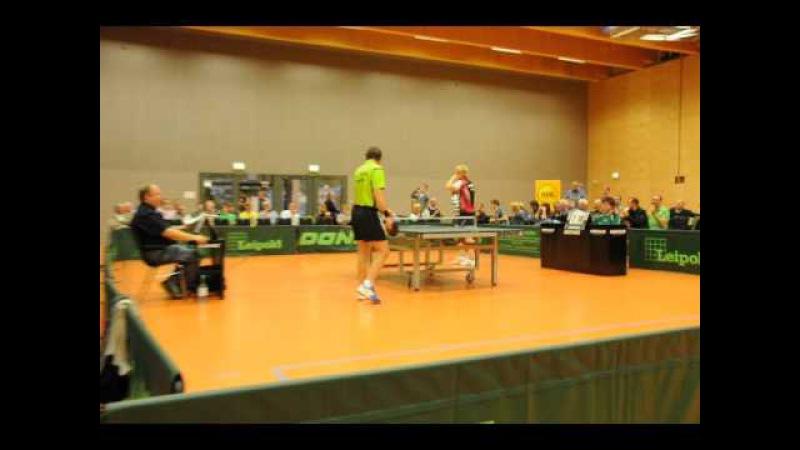 J.M. Saive simulates an orgasm - funny table tennis