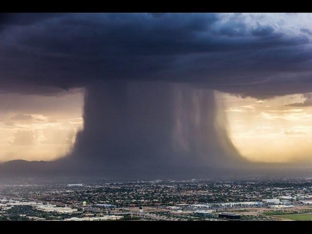 В Австралии с Купола Плоской Земли упало имитационное облако которое завалило один из городов