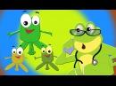 Cinco pequeñas ranas | canciones infantiles | Canciones para niños | Baby Rhymes | Five Little Frogs