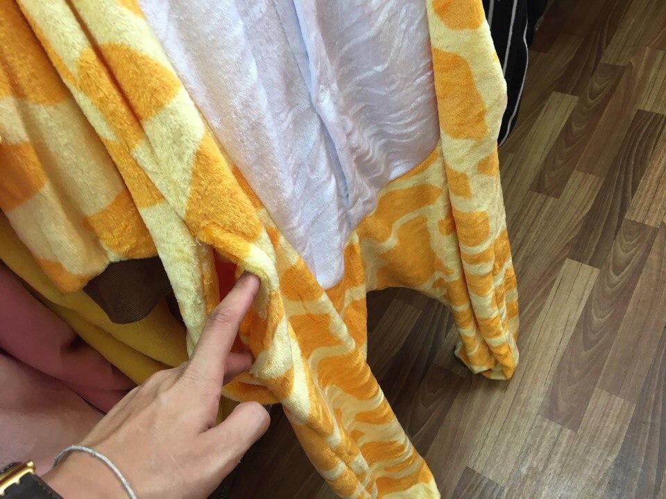карманы у пижамы кигуруми жираф