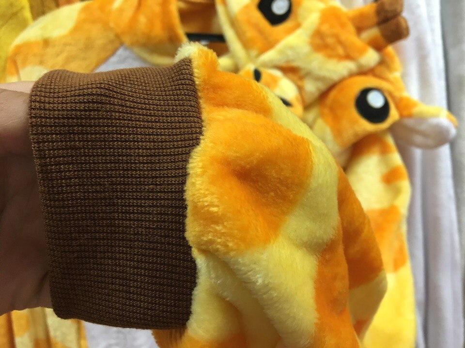 пижама кигуруми жираф манжеты