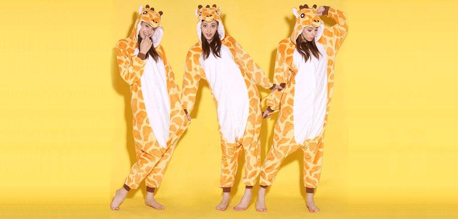 Обзор пижамы кигуруми Жираф
