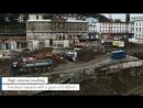 Дробилка KLEEMANN MOBICAT MC 110 Z EVO на строительстве железнодорожной станции Doeppersberg в ВупперталеHD