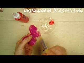 ЛЮСТРА с БАБОЧКАМИ из пластика и пряжи! Как сделать Легко и просто!-Lustre en plastique et fils