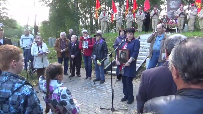 Выступление Неониллы Самухиной на траурном митинге Реквием над Ладогой