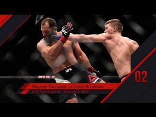 UFC Top 10 KOs of 2016 # 2 Stephen Thompson KO Johny Hendricks