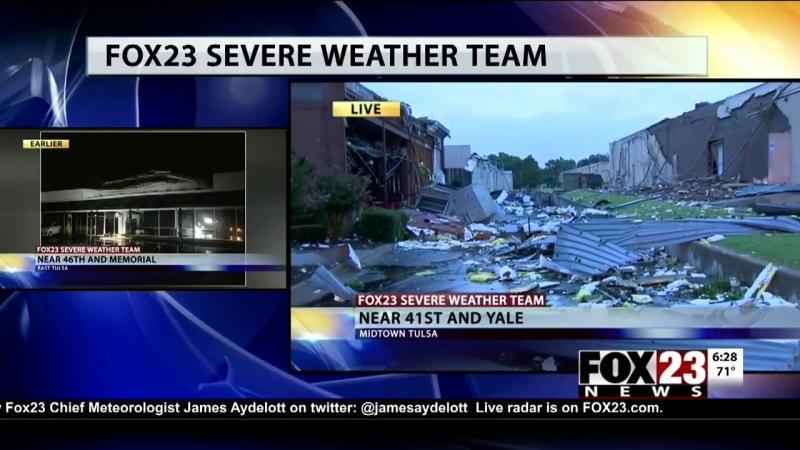 VIDEO First daylight look of midtown Tulsa storm damage