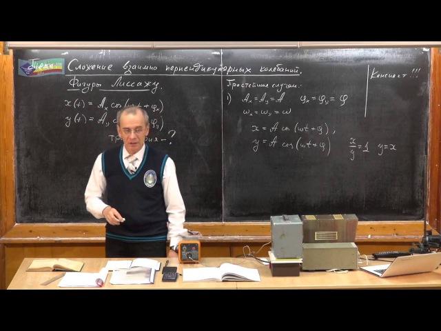 Урок 342. Сложение взаимно перпендикулярных колебаний. Фигуры Лиссажу