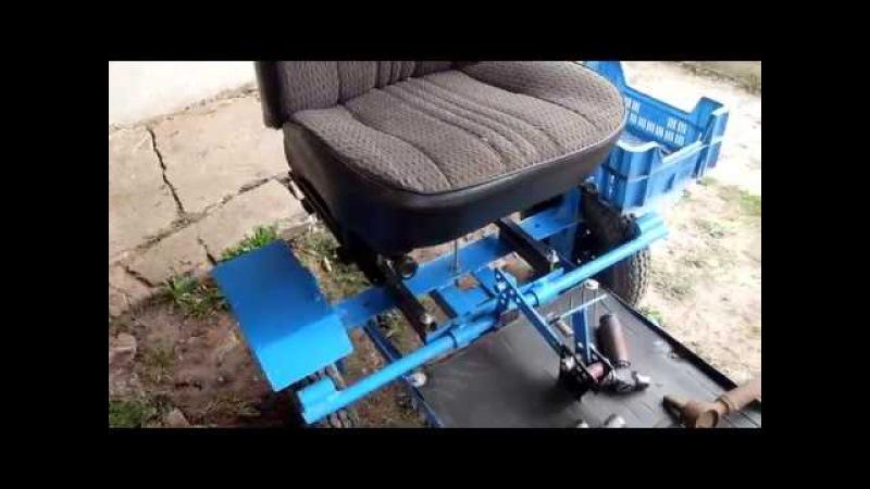 Самодельная коляска к мотоблоку НЕВА МБ-2.
