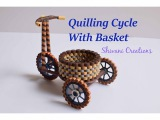 Part one Quilling Tricycle with Basket Quilled Cycle DIY Paper Cycle