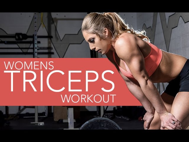 Womens' Triceps Workout (4 MOVES FOR PERFECT ARMS!!)