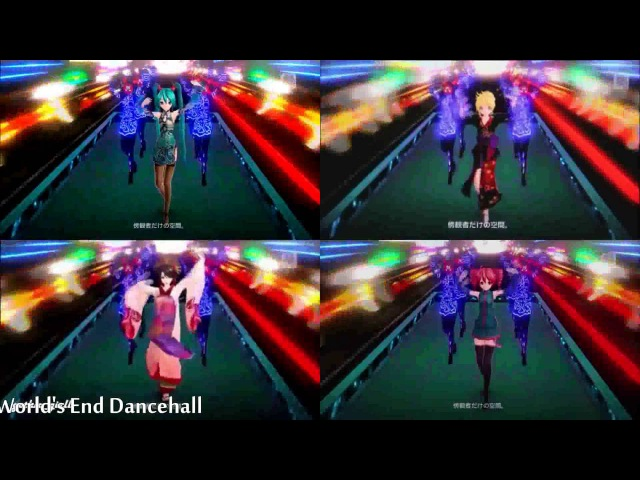 【VOCALOID】Worlds End Dancehall 「Miku · Luka」「Rin · Len」「Meiko · Kaito」「Teto · Haku」Project DIVA F