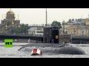 Rusia expone sus mejores buques en el desfile por el Día de la Armada