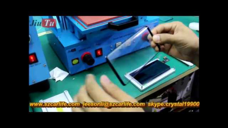Samsung Galaxy S8 S8 Broken LCD OLED Glass Change Repair By Jiutu LCD Freezer Custom Mold