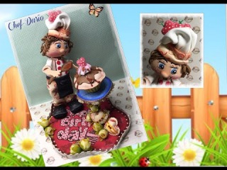 Creaciones Mamen 2ª parte Aula Virtual Gratis Chef-Darío paso a paso hecho con gomaeva (Foamy)