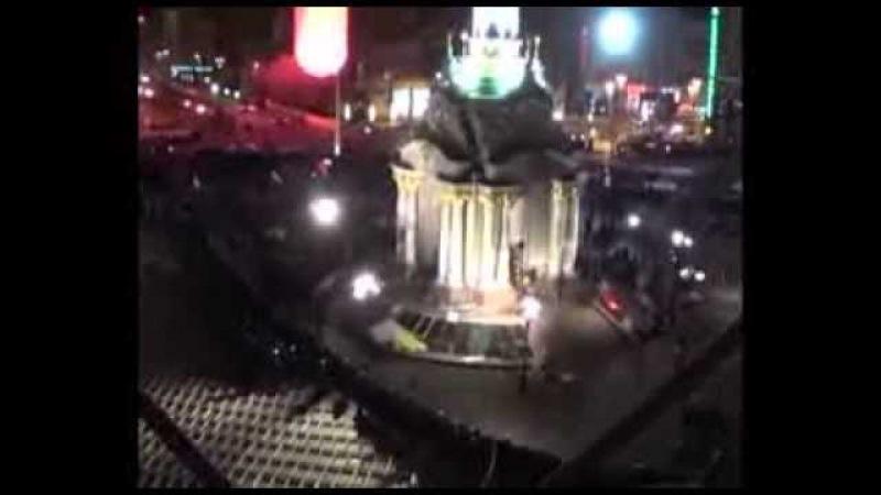 Як Беркут вночі розганяв Євромайдан