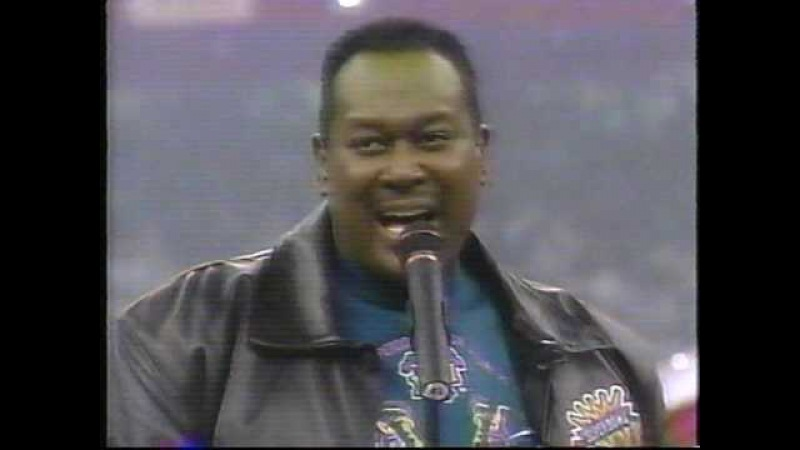 Luther Vandross SuperBowl XXXI National Anthem