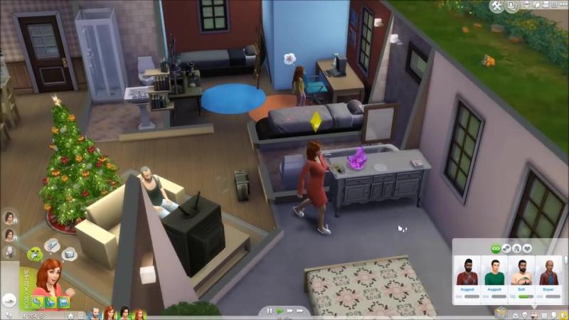 The Sims 4 Поиграем Семейка Митчелл _ 33 Рождественская елка