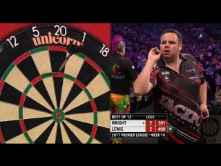 Peter Wright vs Adrian Lewis (2017 Premier League Darts / Week 14)