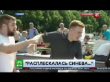 Корреспондент НТВ получил по лицу от десантника в прямом эфи